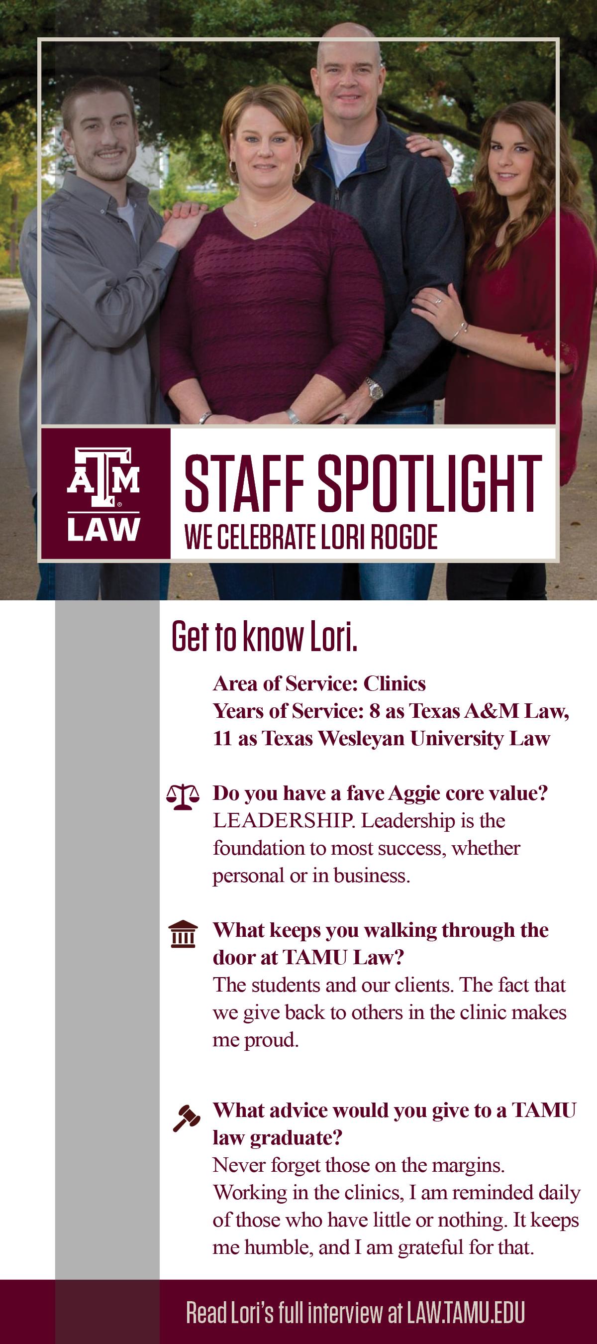 Staff Spotlight Lori