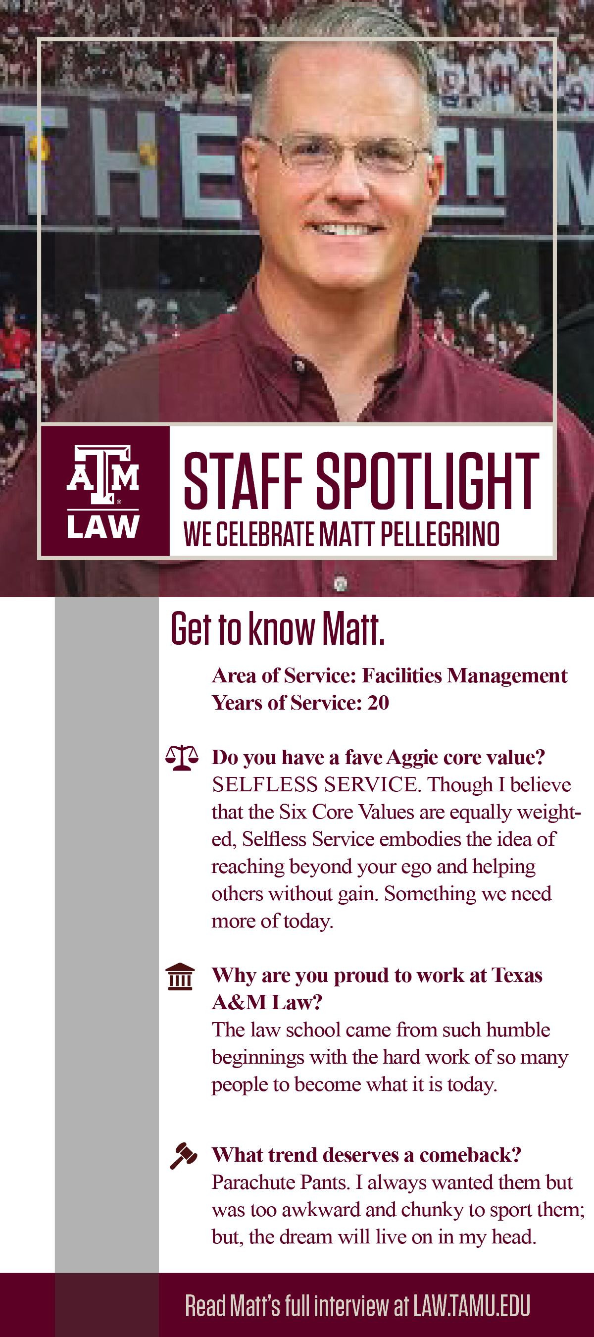 Staff Spotlight Matt