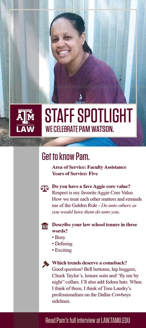 Staff Spotlight Pam