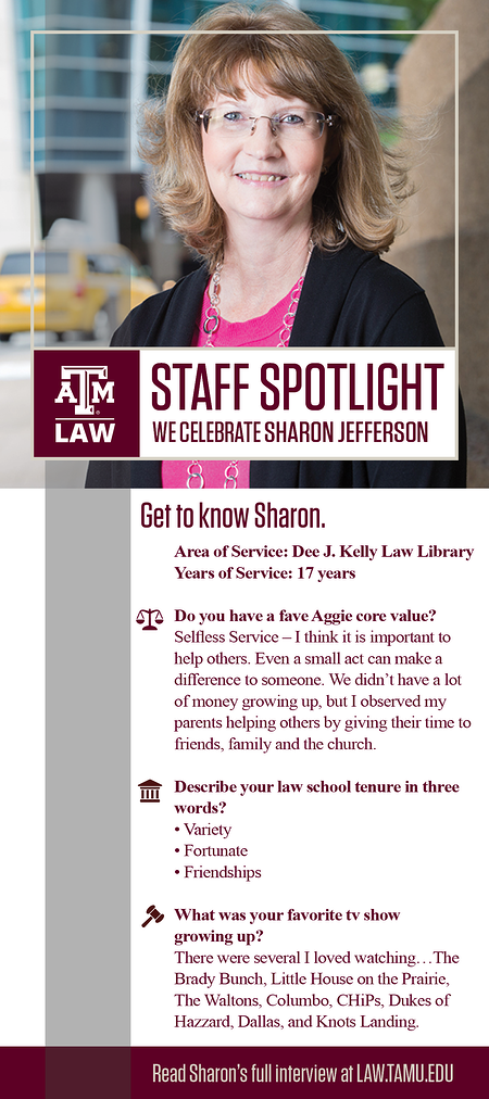 Staff Spotlight Sharon