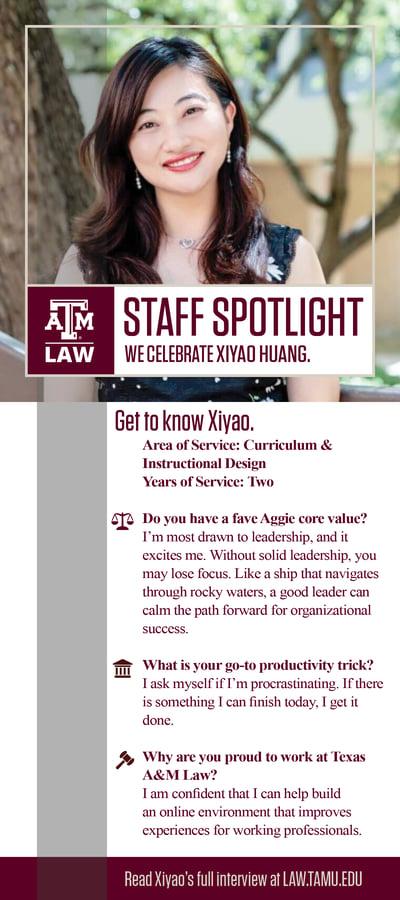 Staff Spotlight Xiyao