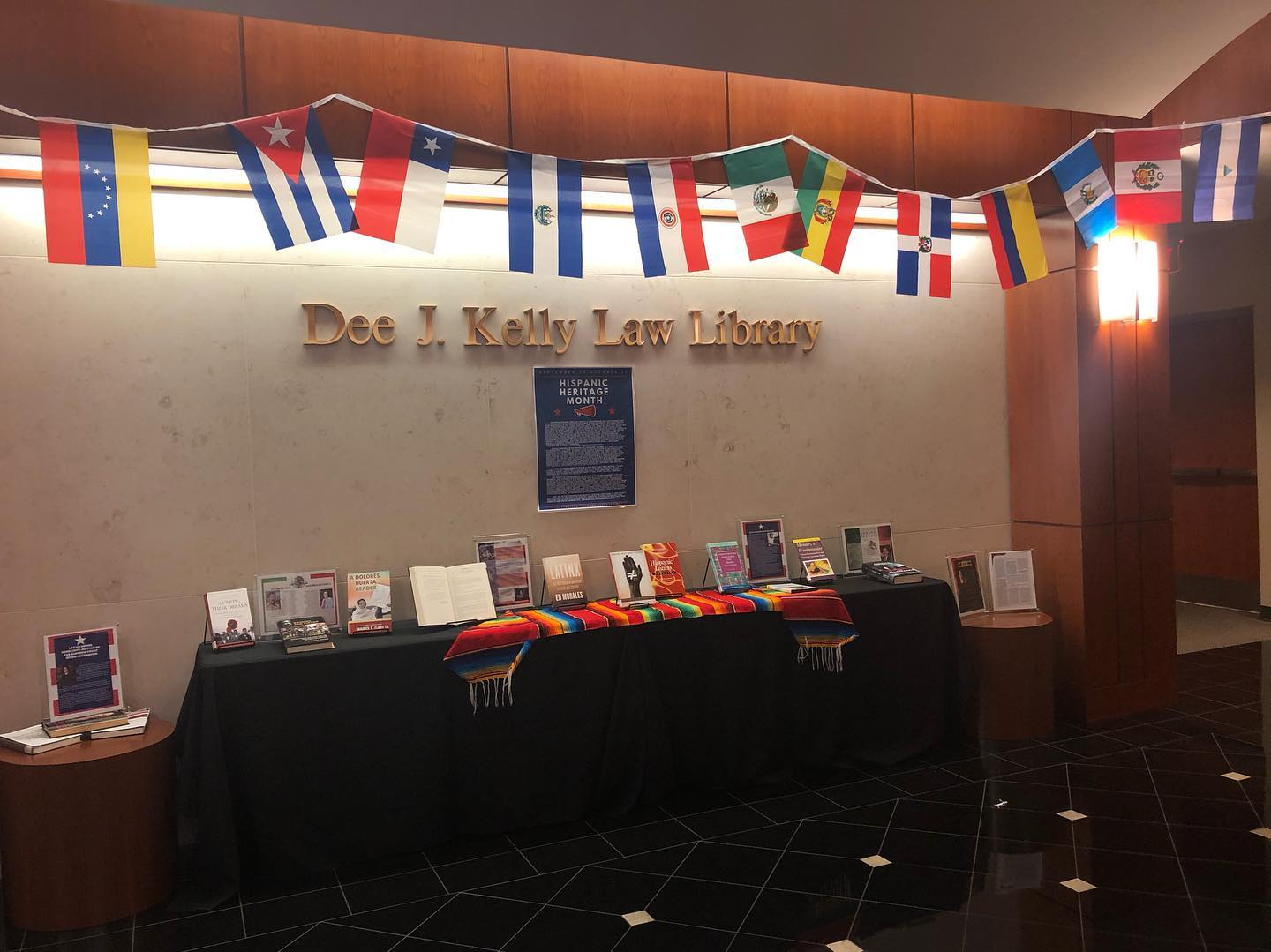 HIspanic Heritage Month display