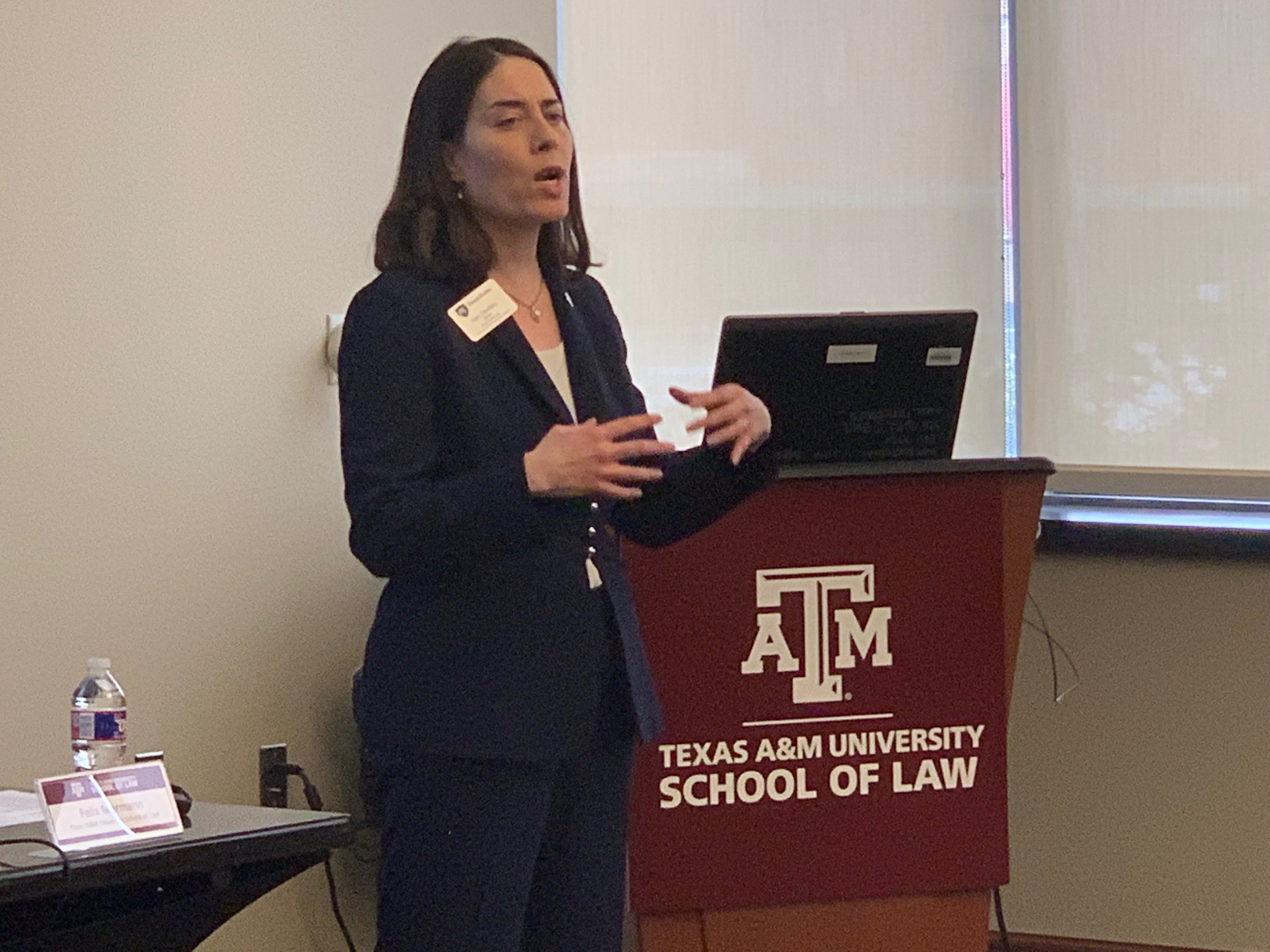_ Introductory  Keynote Speaker Hari Osofsky, Dean of Penn State Law, addresses the TAMU Law_s 2019 Energy Law Symposium