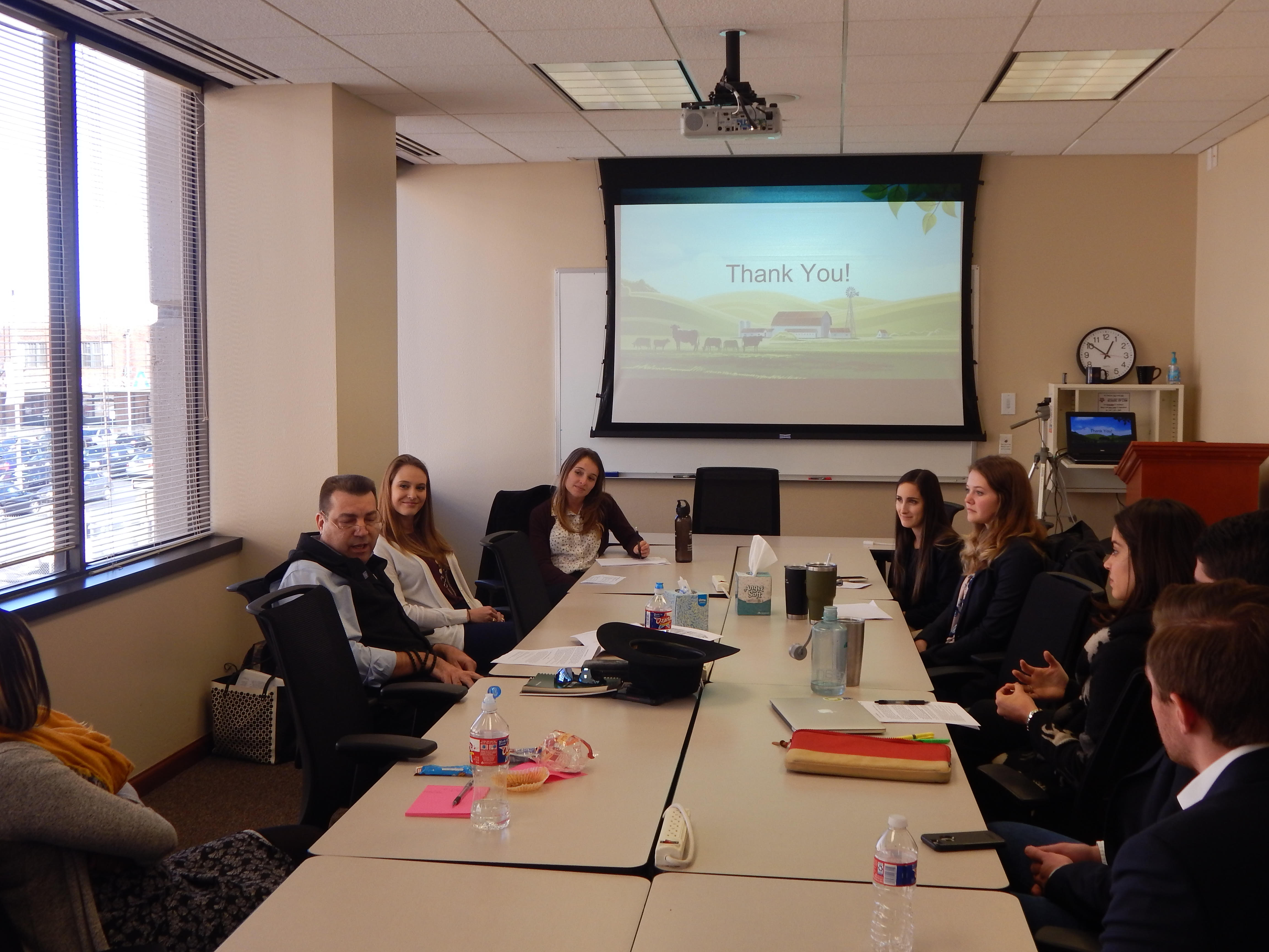 _ Students present research findings to Attorney Mark McPherson